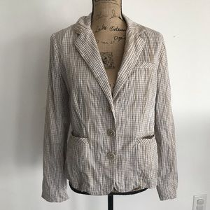 CAbi Ginger Snap Checkered Jacket Size Medium